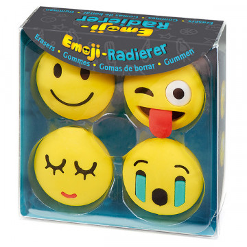 Lot de 4 Gommes Smiley