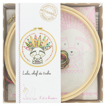 Kit broderie Lulu Chef de la Tribu