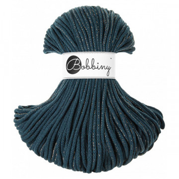 Bobbiny - Fil macramé Golden Peacock Blue