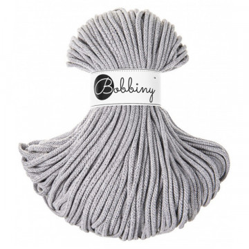 Bobbiny - Fil macramé Silvery Light Grey