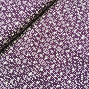 Tissu Asanoha violet
