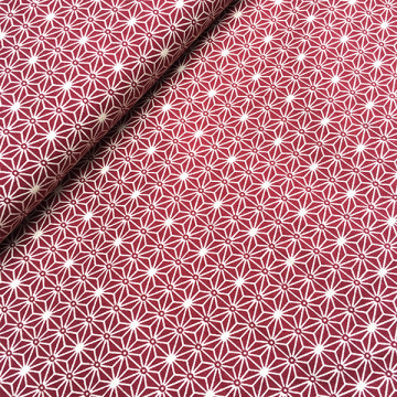 Tissu Asanoha rouge