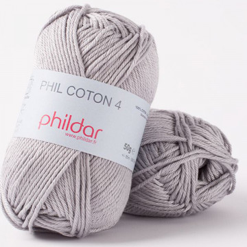 Phil Coton 4 Silver - Phildar