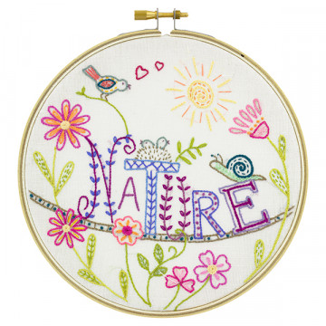 Kit broderie Vive la nature