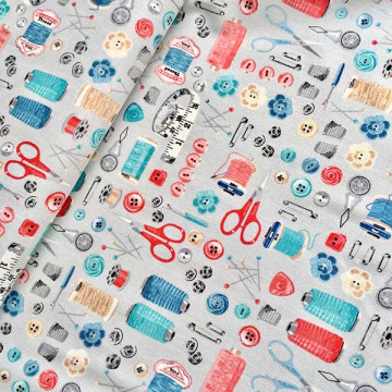 Tissu boite à couture