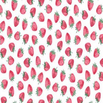 Tissu fraises