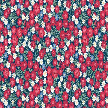 Tissu estival rouge