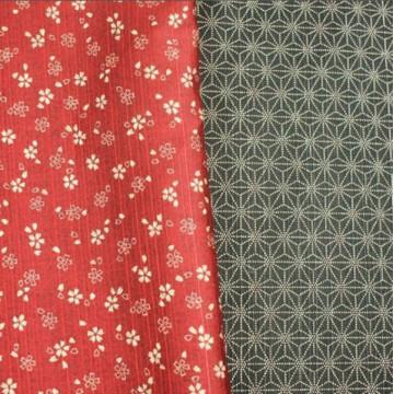 Tissu Sakura/Asanoha rouge...