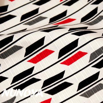 Tissu Flêches rouge noir