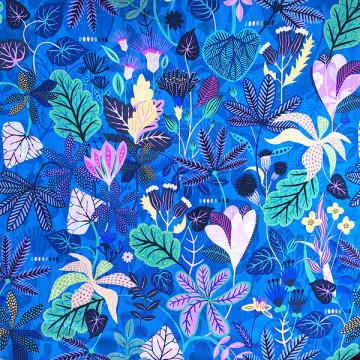 Tissu Gardenia feuilles et...