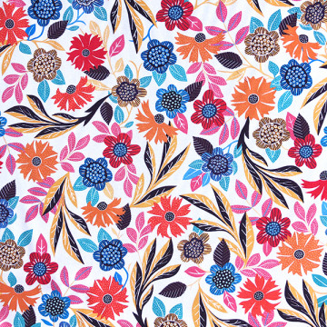 Tissu fleurs de Gardenia...