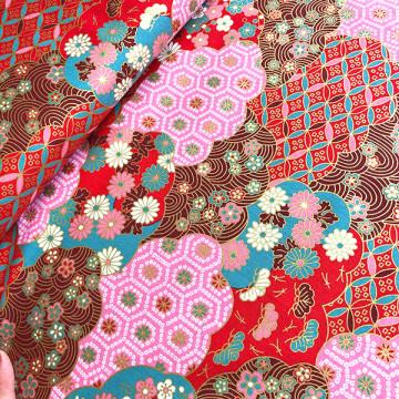 Tissu Chiyogami rose