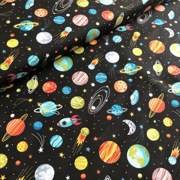 Tissu planètes de l'espace