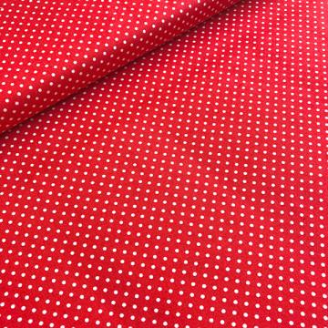Tissu rouge à pois
