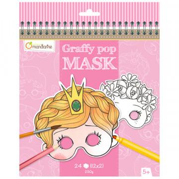 Masques filles à colorier