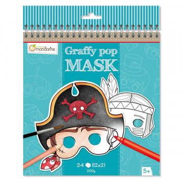 Masques garçons à colorier