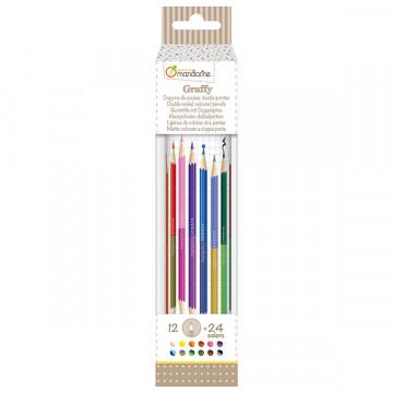 Tube 12 crayons de couleur...