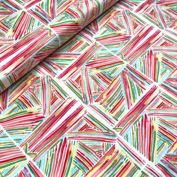 Tissu Multi rayures