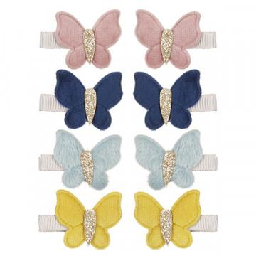 Barrettes papillons en velours