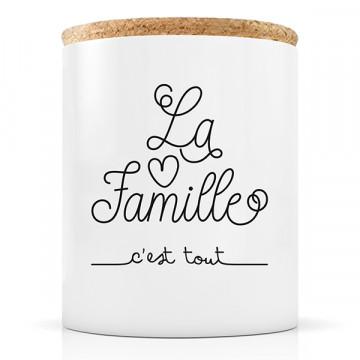 """Bougie """"La famille c'est tout"""""""
