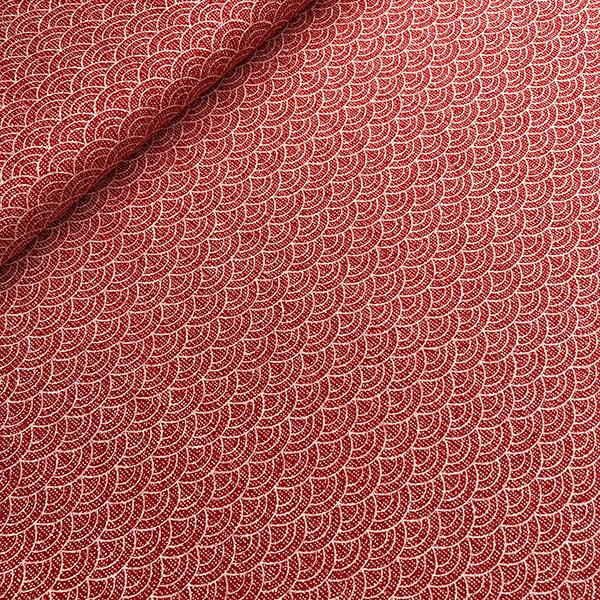 Tissu Seikaiha Kasuri rouge de chez Sevenberry