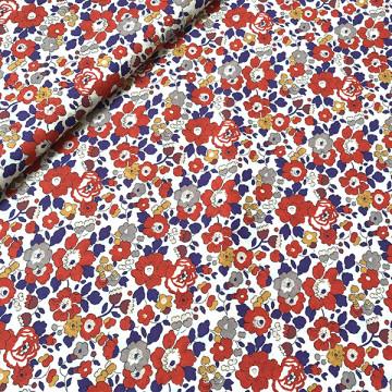 tissu liberty art fabrics betsy rouge édition spéciale 40 ans
