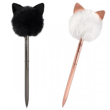 Stylo à bille Pompon chat
