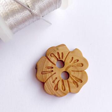 Bouton Fleur en bois