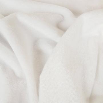 Tissu Eponge de bambou blanc