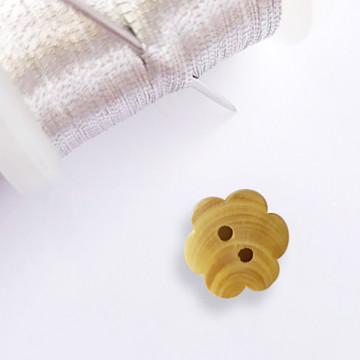 Bouton Fleur simple en bois