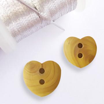 Bouton Cœur en bois