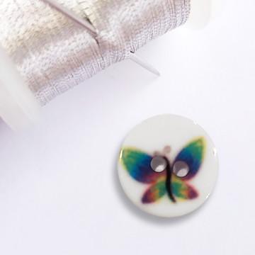 Bouton Papillon en résine