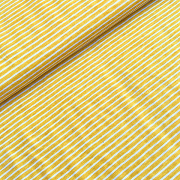 Tissu jaune Jersey à...
