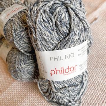 Lot 6 pelotes Phildar Rio gris
