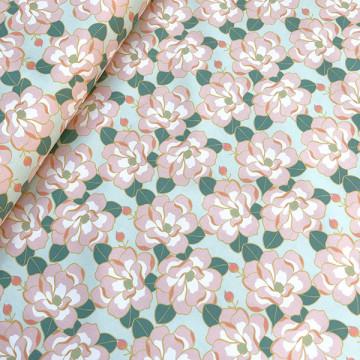 Tissu Magnolia Amande