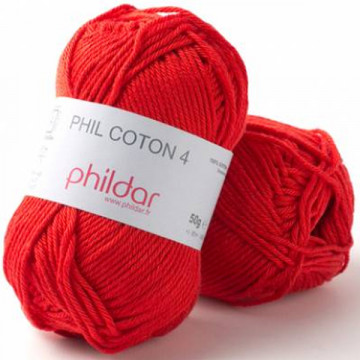 Phil Coton 4 Rouge - Phildar