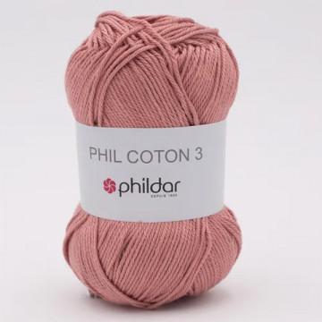 Phil Coton 3 Vieux rose -...