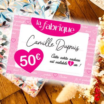 Carte Cadeau La Fabrique - 50€