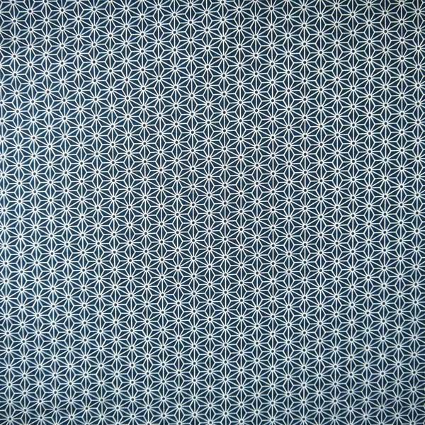 Tissu Asanoha bleu marine