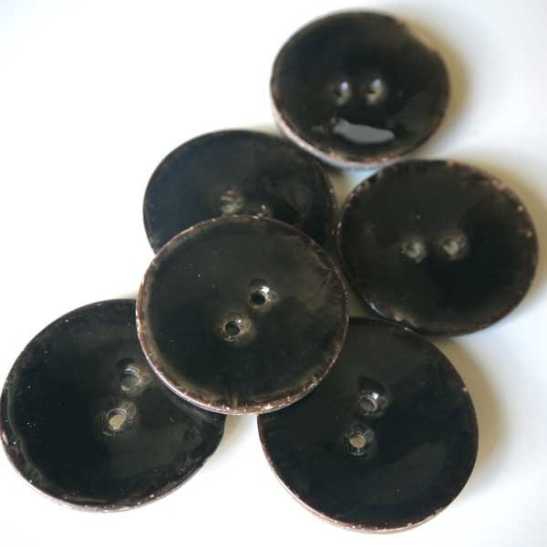 Bouton noir 40mm