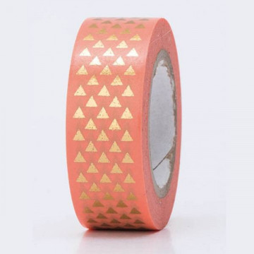 Masking tape triangle corail