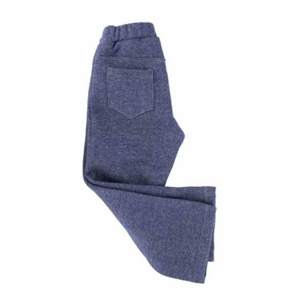 Tissu sweat bleu chiné