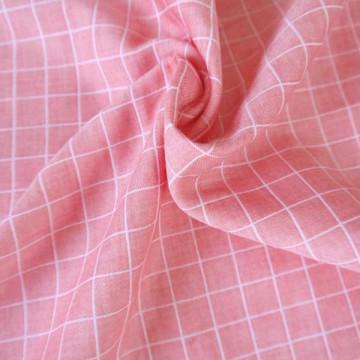 Tissu lange à carreaux Corallo
