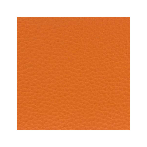 Tissu simili cuir orange