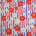 Tissu stripes japonais violet