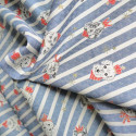 Tissu dogs stripes denim