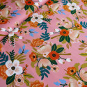 Tissu lively floral coral