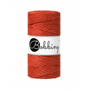 Fil macramé orange brulé