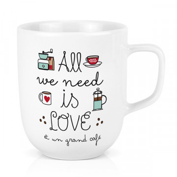 Mug All we need is Love Café