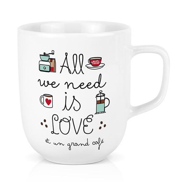 Mug All we need is Love Café